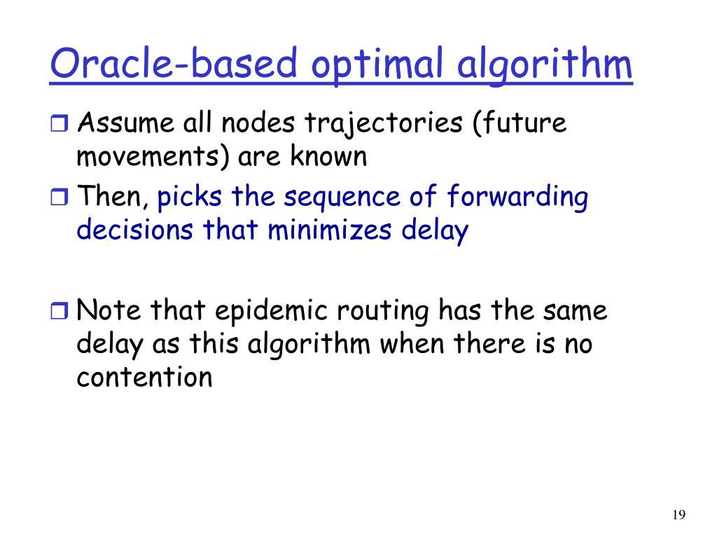 Oracle-based optimal algorithm
