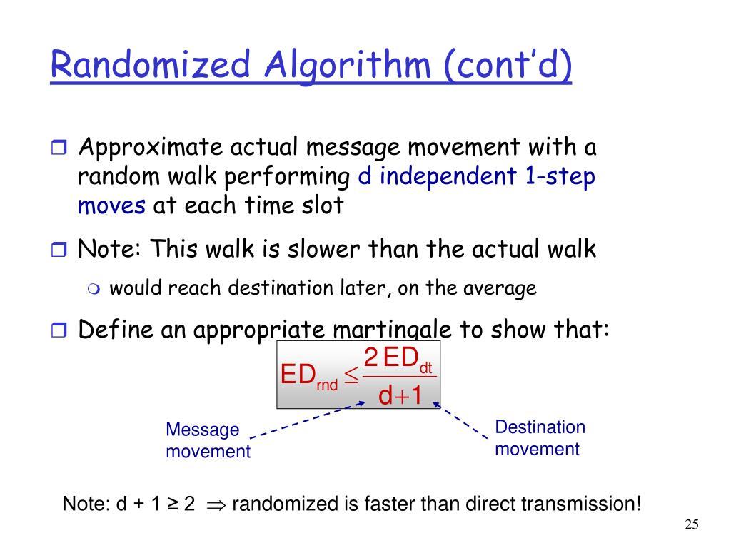 Randomized Algorithm (cont'd)