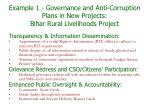 example 1 governance and anti corruption plans in new projects bihar rural livelihoods project