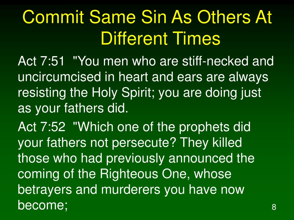 Commit Same Sin As Others At Different Times