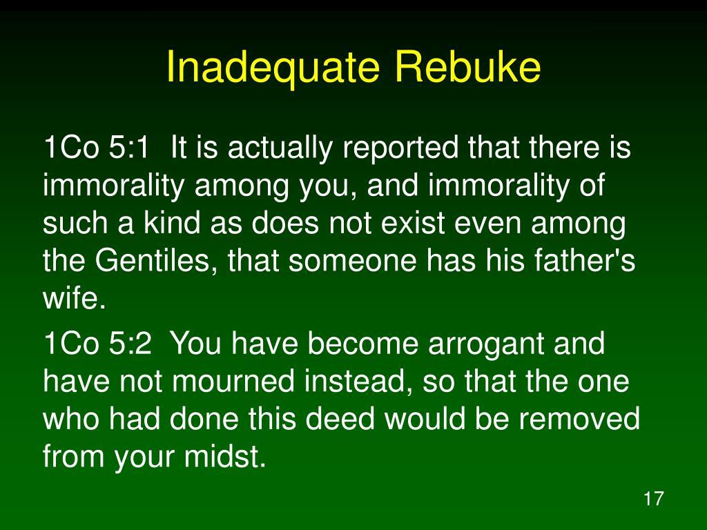Inadequate Rebuke