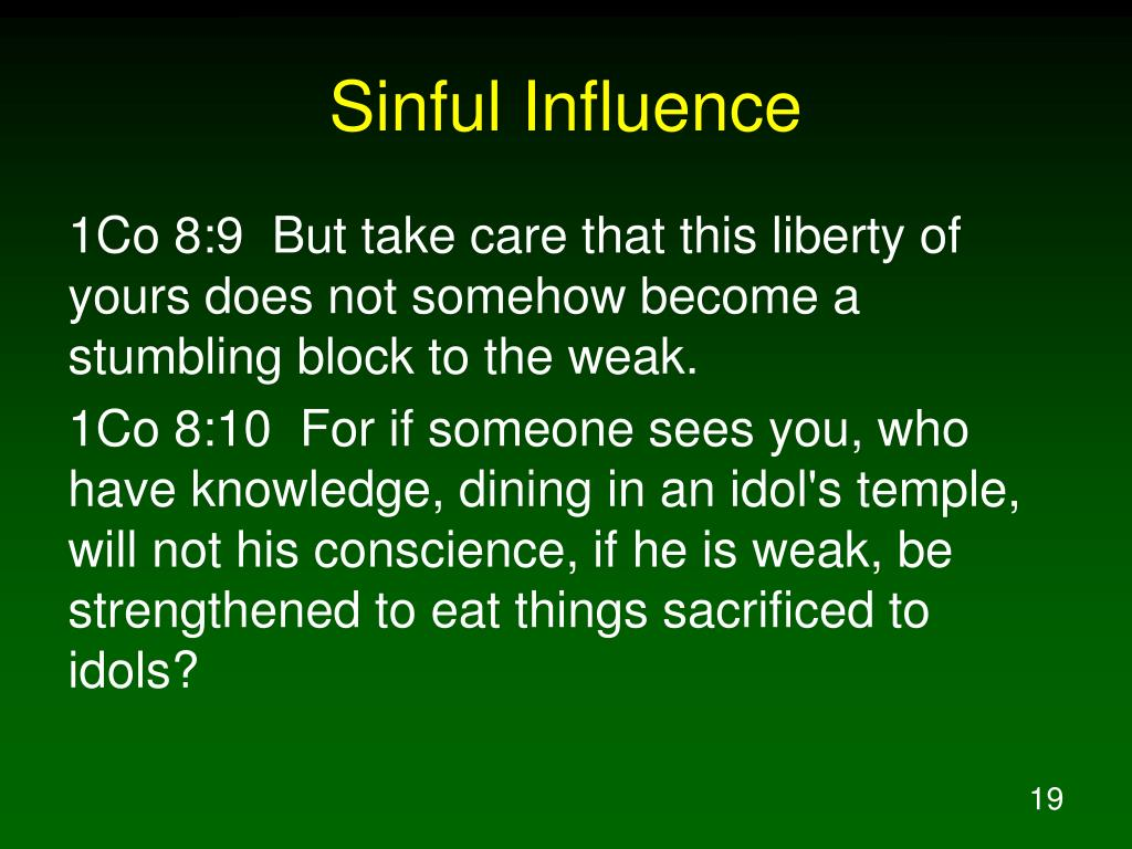 Sinful Influence