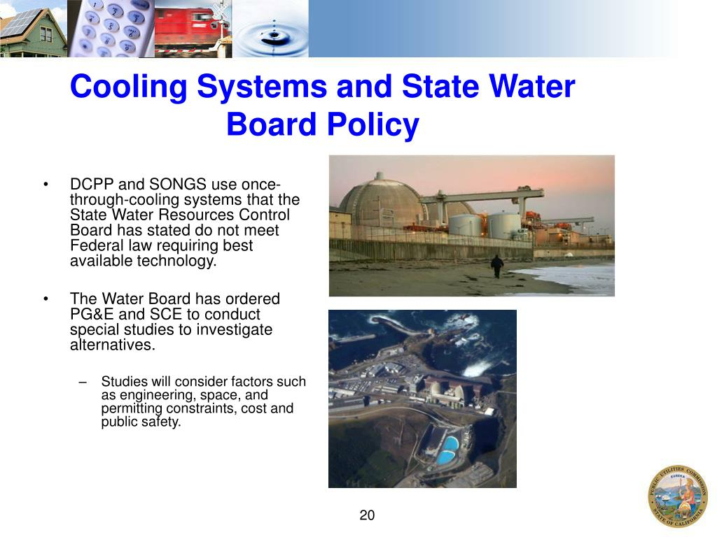Cooling Systems and State Water Board Policy