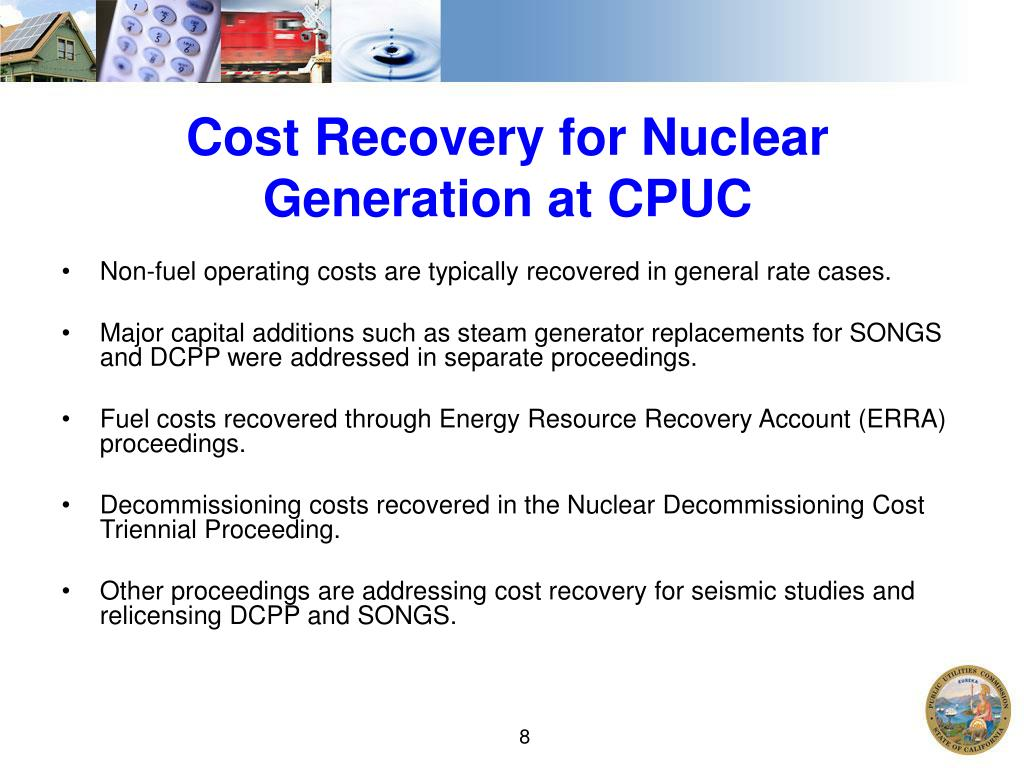 Cost Recovery for Nuclear Generation at CPUC