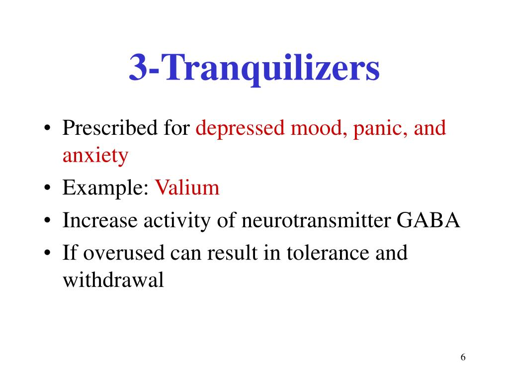 3-Tranquilizers