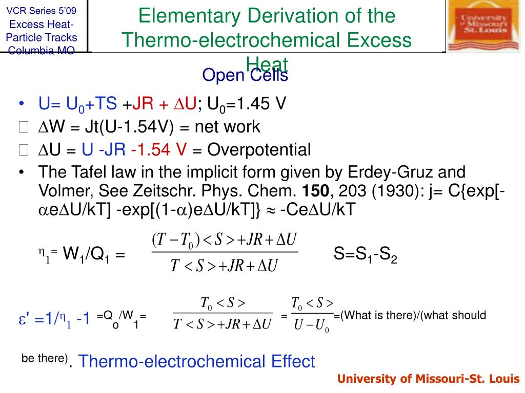 Elementary Derivation of the Thermo-electrochemical Excess Heat