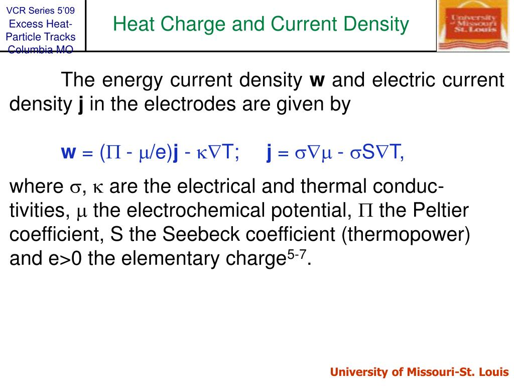 Heat Charge and Current Density