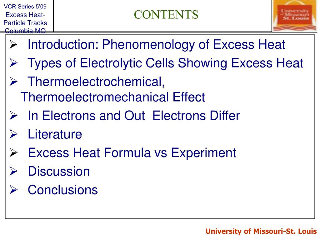 Introduction: Phenomenology of Excess Heat