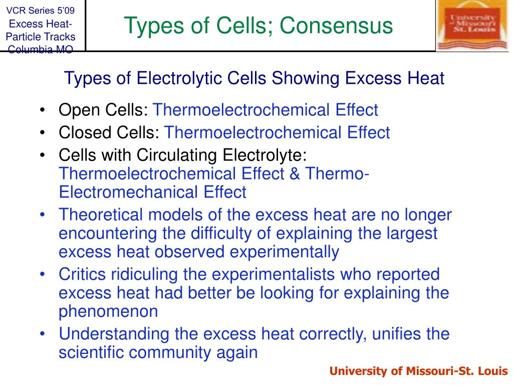 Types of Cells; Consensus