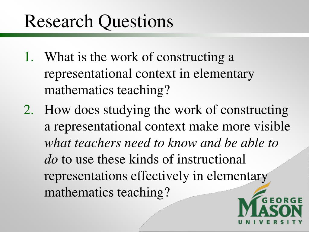 Research Questions