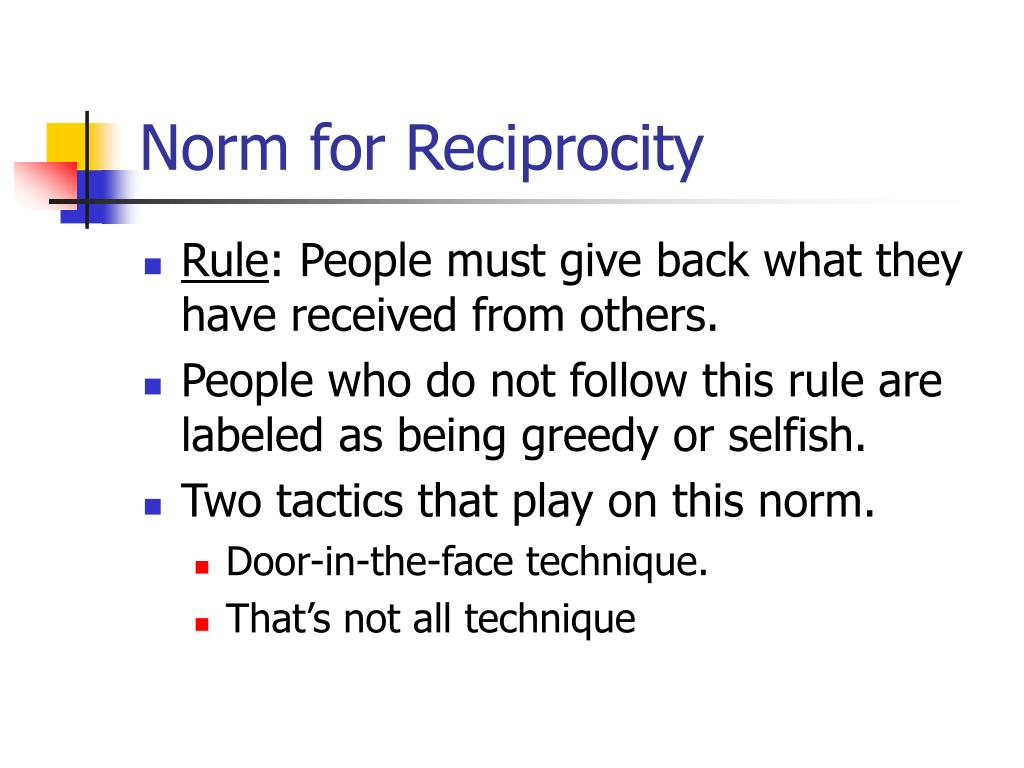 Norm for Reciprocity