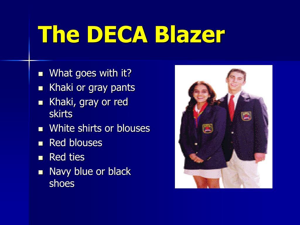 The DECA Blazer