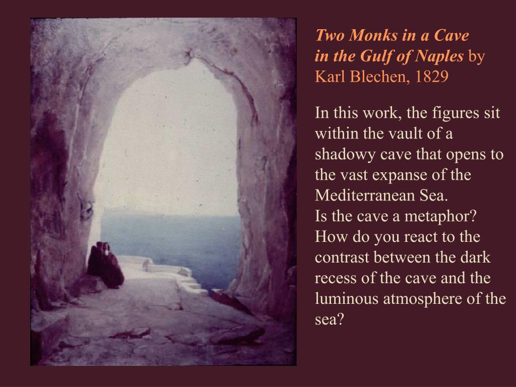 Two Monks in a Cave in the Gulf of Naples