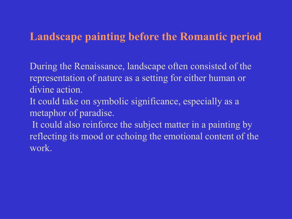 Landscape painting before the Romantic period