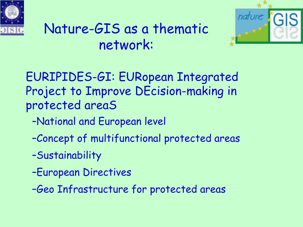 Nature-GIS as a thematic network: