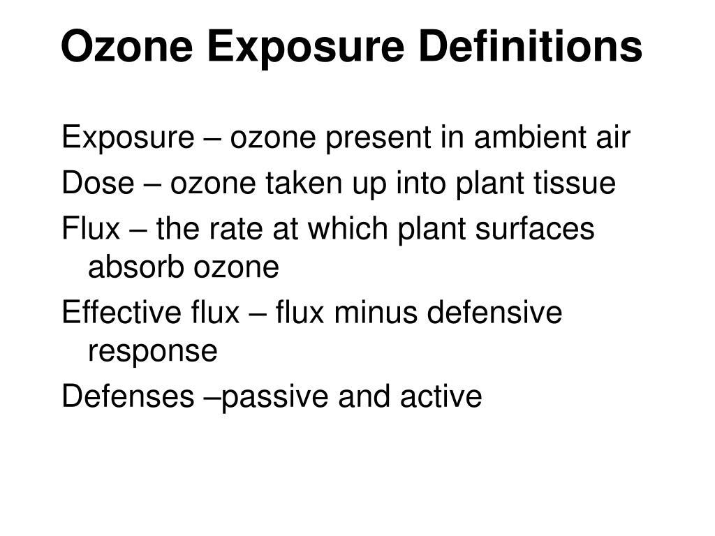 Ozone Exposure Definitions