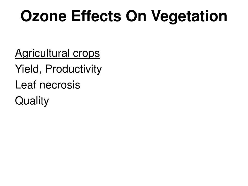 Ozone Effects On Vegetation