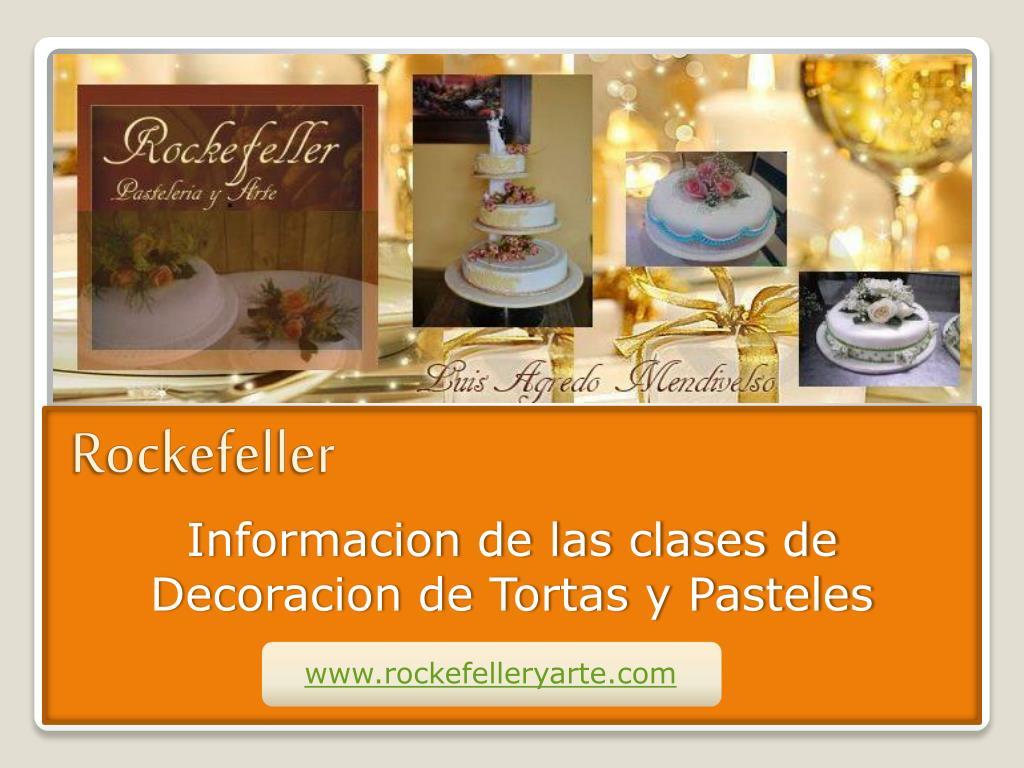 Informacion de las clases de Decoracion de Tortas y Pasteles