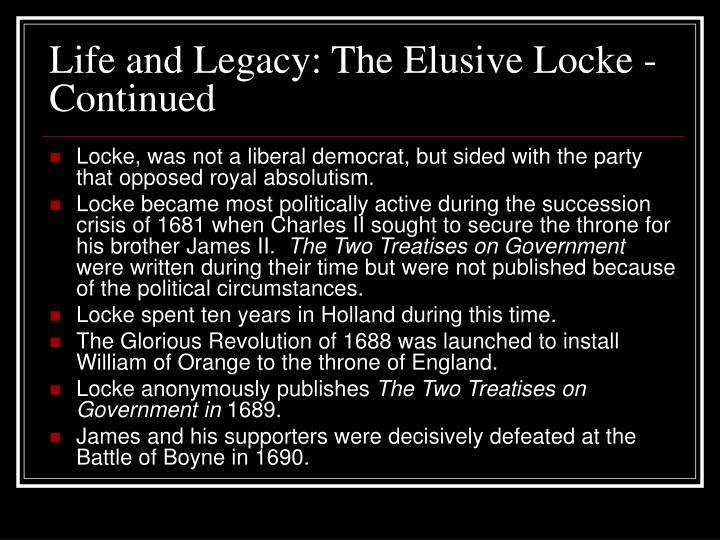 Life and legacy the elusive locke continued l.jpg
