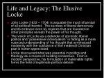 life and legacy the elusive locke