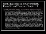 of the dissolution of government from second treatise chapter 19