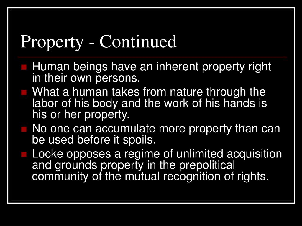 Property - Continued