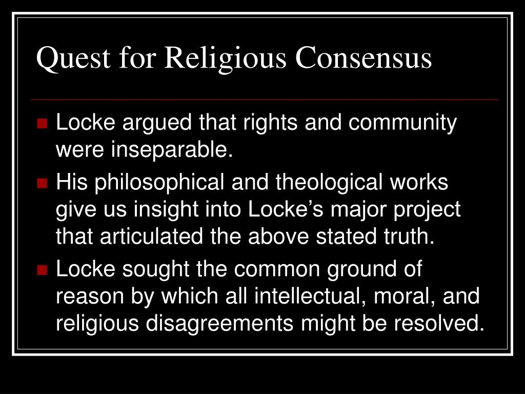 Quest for Religious Consensus