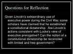 questions for reflection25
