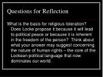questions for reflection37