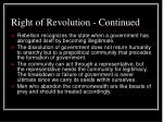 right of revolution continued