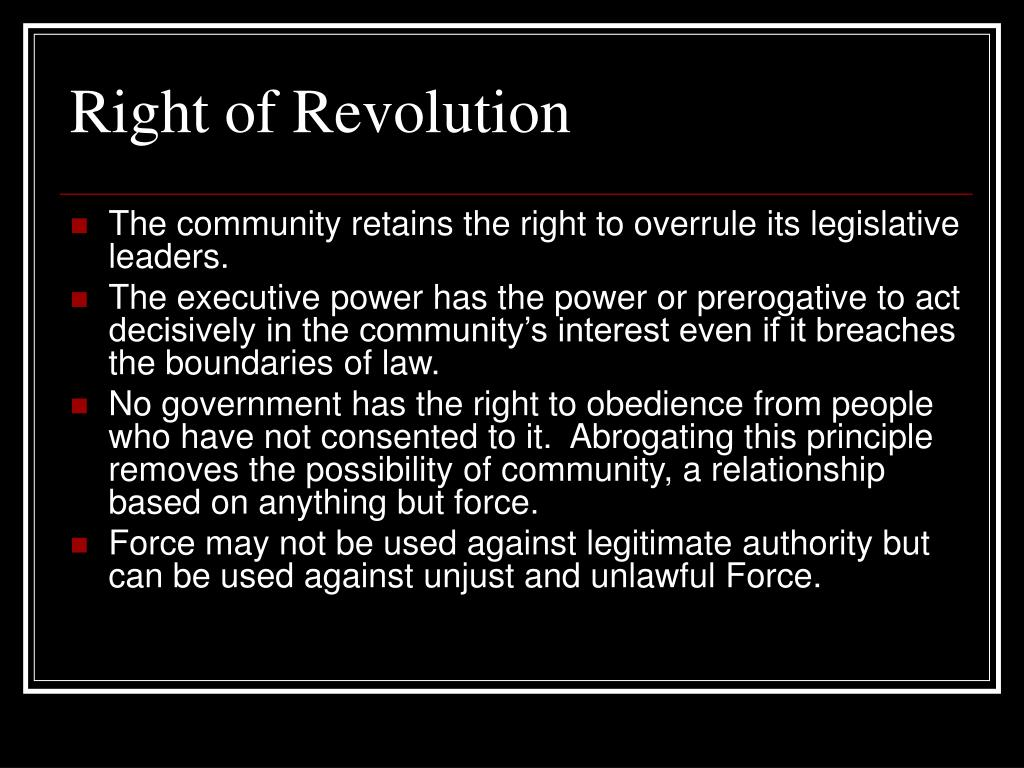 Right of Revolution