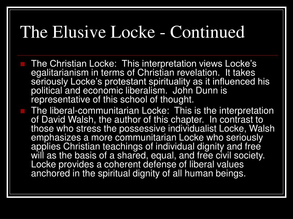 The Elusive Locke - Continued