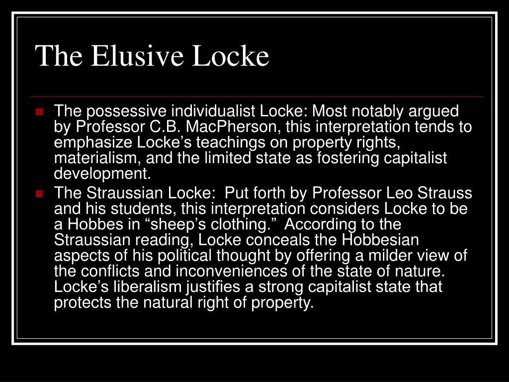 The Elusive Locke