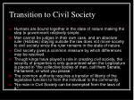 transition to civil society