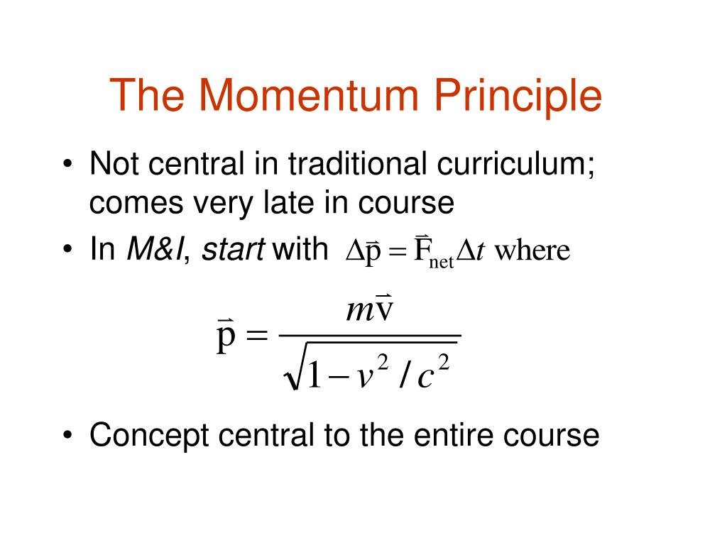 The Momentum Principle