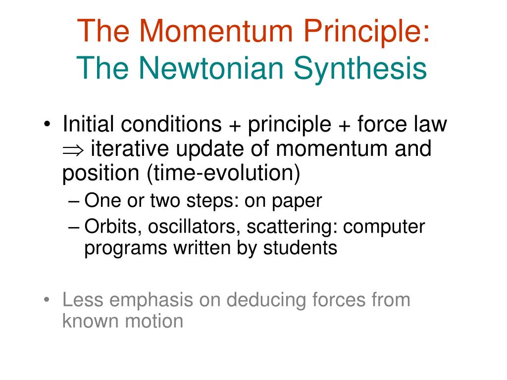 The Momentum Principle: