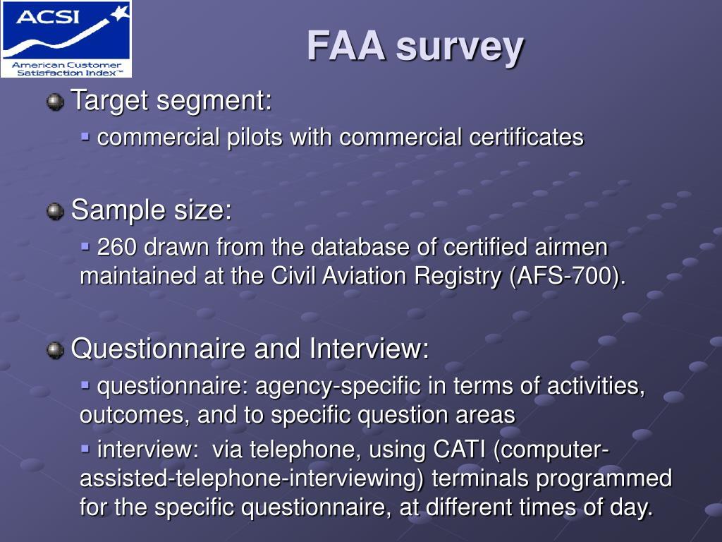 FAA survey