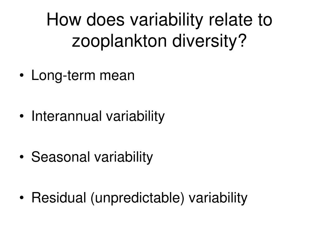 How does variability relate to zooplankton diversity?