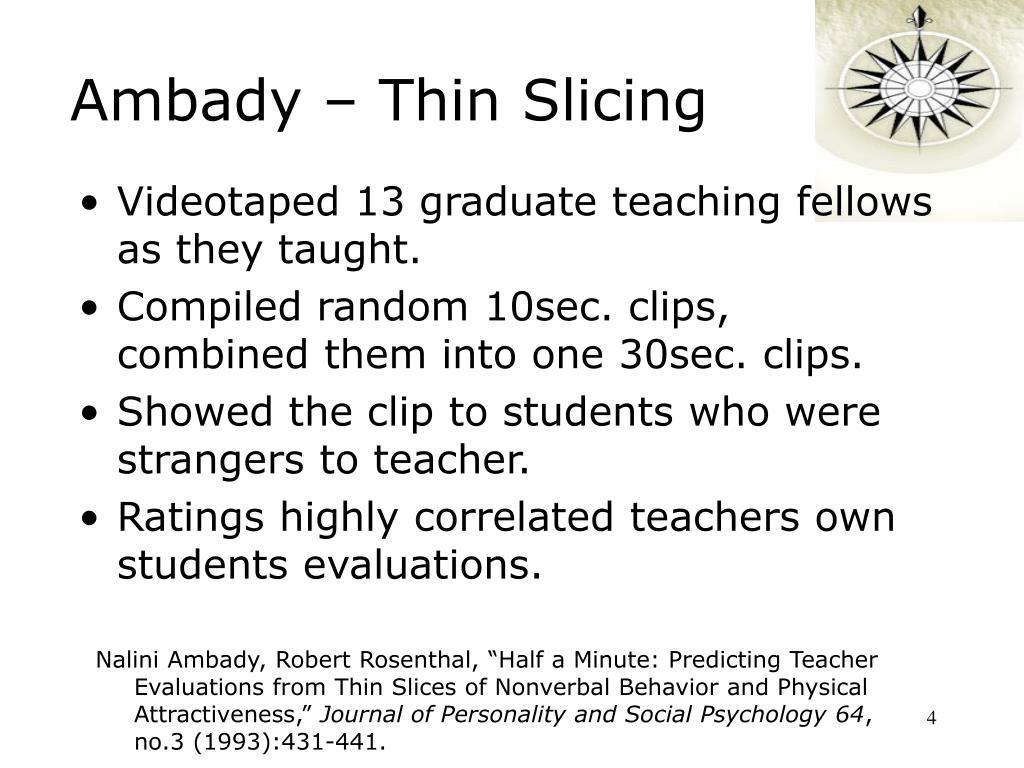 Ambady – Thin Slicing