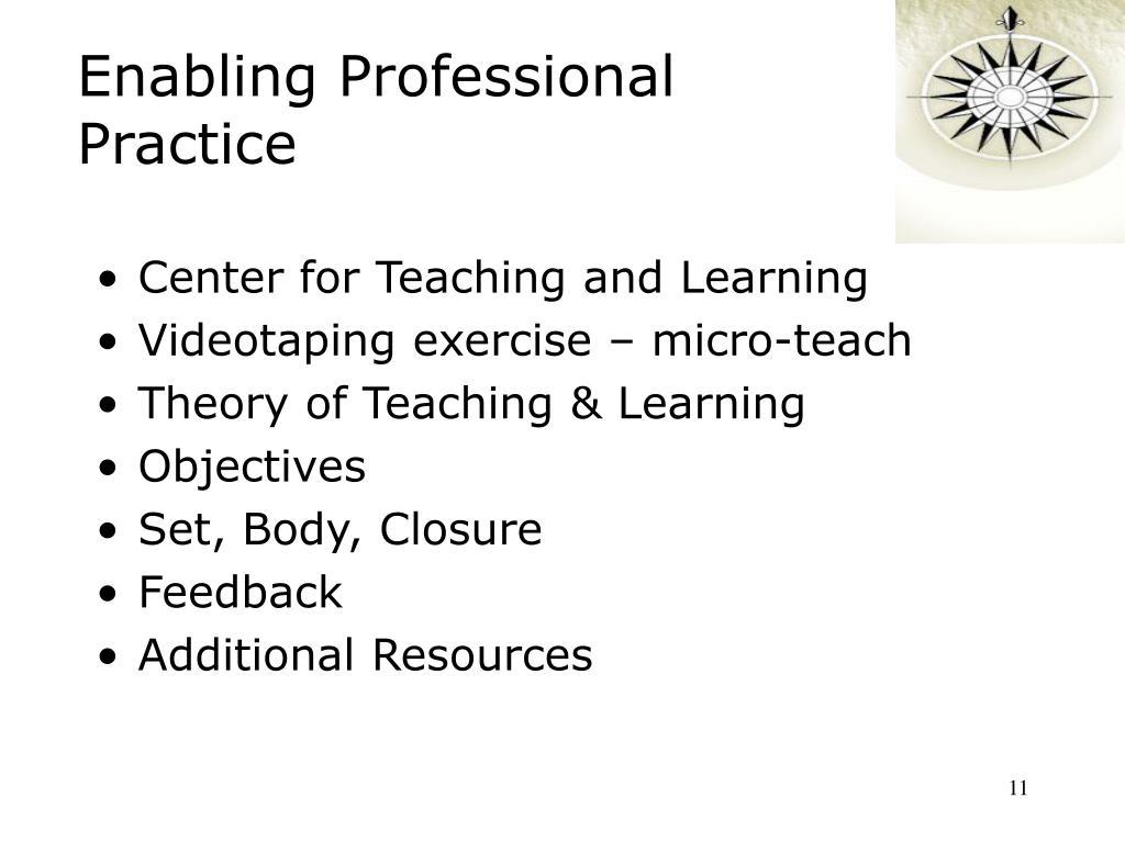 Enabling Professional Practice