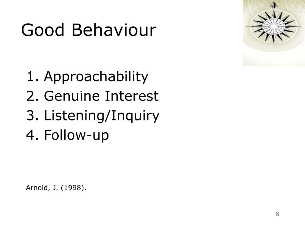Good Behaviour