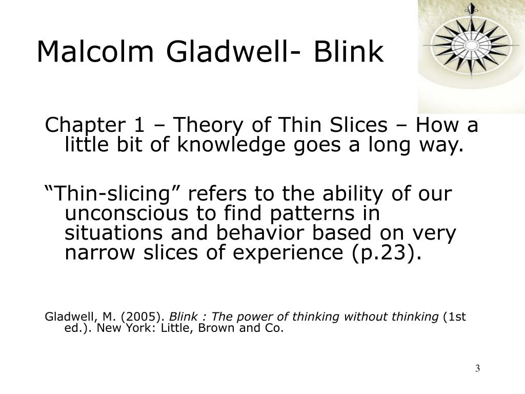 Malcolm Gladwell- Blink