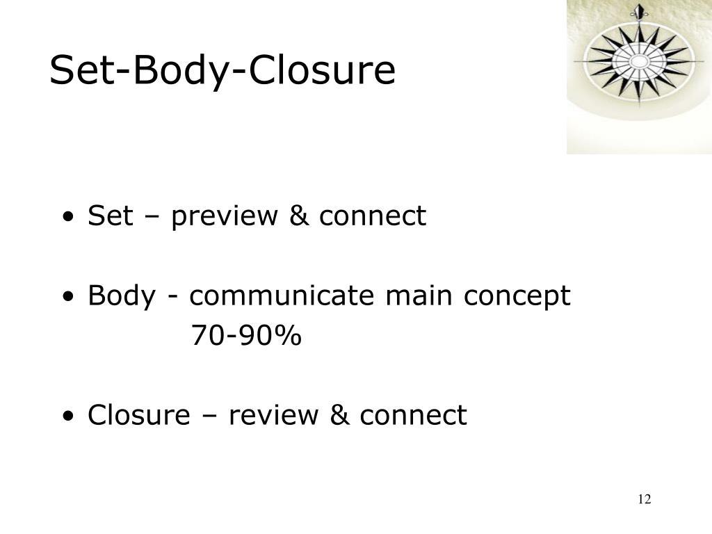 Set-Body-Closure