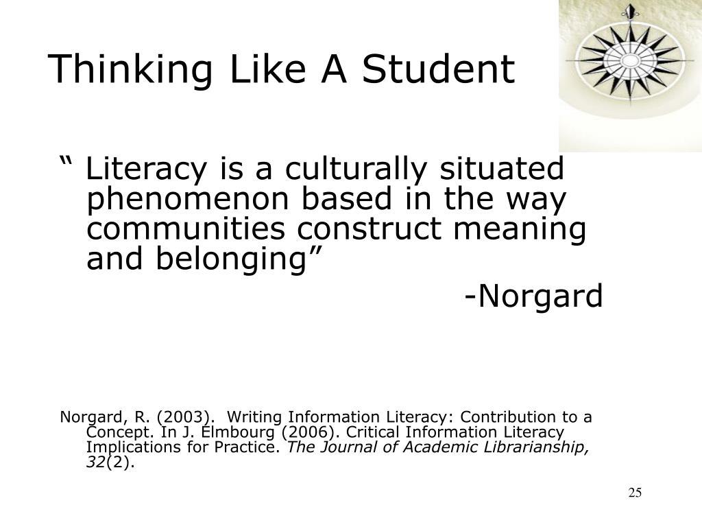 Thinking Like A Student