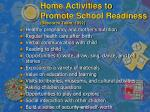 home activities to promote school readiness resource team 1992