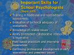 important skills for school psychologists nagle 2000