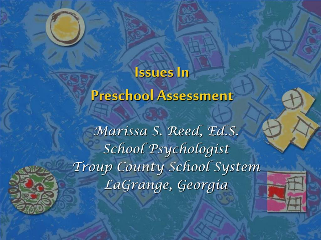 issues in preschool assessment