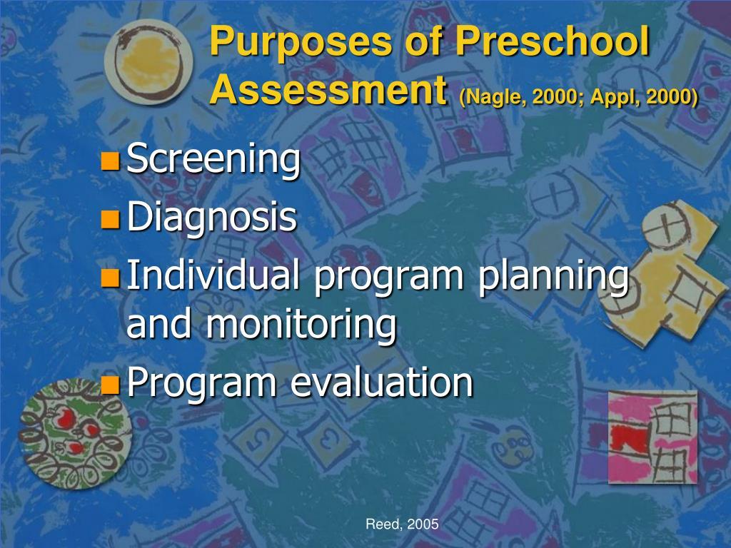 Purposes of Preschool Assessment