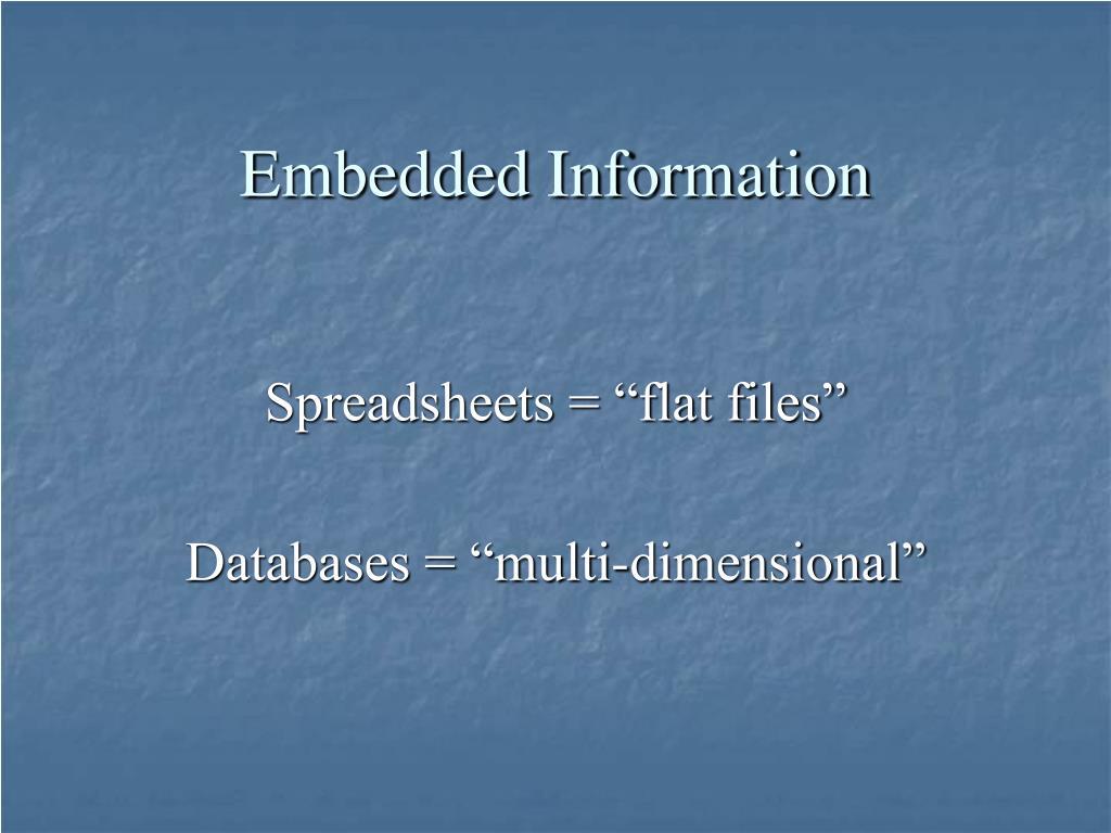 Embedded Information
