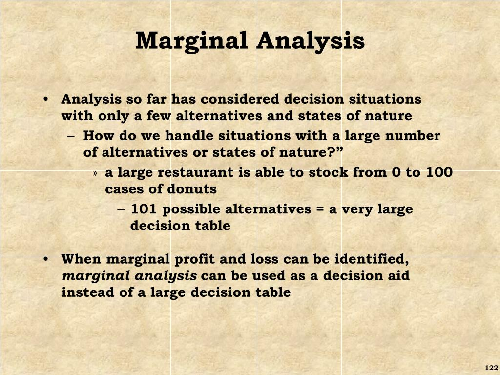 Marginal Analysis